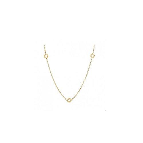 Collana argento dorato - rosato - rcl15 (450mm.)