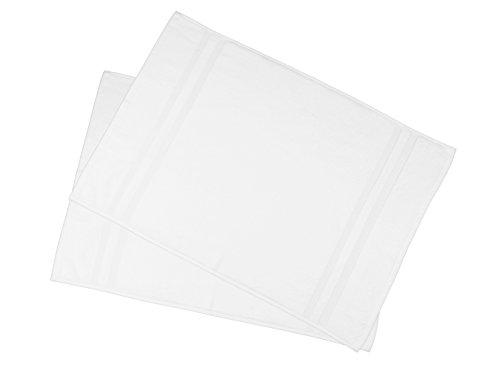 ZOLLNER 2 tappetini da Bagno scendibagno Bianco 50x75 Cotone Altri Colori