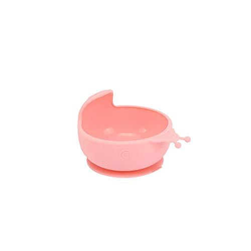 Dauerhafte Silikon (Trifycore Schnecke-Form für Kinder Bowl dauerhaft Silikon Baby-Trainings-Feeding Snack Schale mit Saugfuß Rosa 1PC)