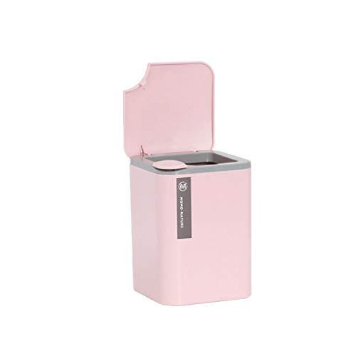 nststoff-Mülleimer, Wohnzimmer Schlafzimmer mit Deckel Desktop-Papierkorb, Studie Büro Aufbewahrungsbox ()