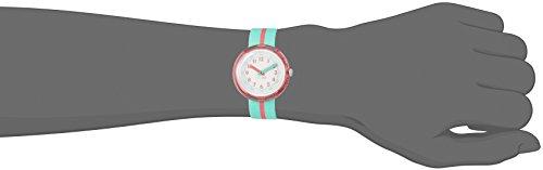 Flik Flak Mädchen Analog Quarz Uhr mit Stoff Armband FPNP020 - 4