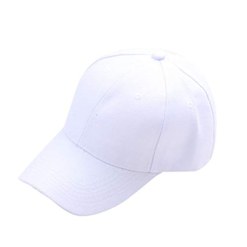 Bobopai Baby Hat for 6-15 Years Old Kids, Fashion Summer Hat Cap Children Children Teenagers Hat Show Solid Kids Baseball Hat Boy Girls Hats Sun Caps (White)