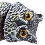 Gran señuelo de búho extremadamente realista con la cabeza giratoria Bird-good toy -a
