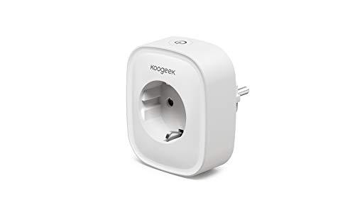 Angebot: WLAN Steckdose Koogeek Smart Steckdose Plug Wifi Stecker Fernbedienbar und Sprachsteuerung IP Steckdosen Stromverbrauch messen, funktioniert mit Google Home und IFTTT, auf NUR 2.4 GHz Netzwerk, 1 Pack für nur 10,50 € statt bisher 13,99 € auf Amazon
