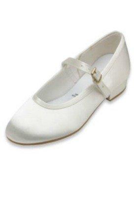 Blanc ou ivoire satiné et sangle 10 tailles de chaussures à 3