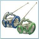 Radio Mini (ca.9x5x7.5cm) Kindergeburtstag Geldgeschenk (GRÜN)