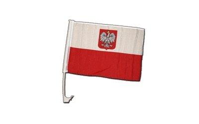 Autofahne Autoflagge Polen mit Adler - 30 x 40 cm