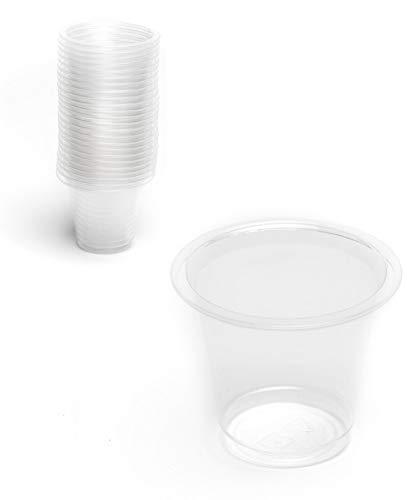 her | PLA Plastikbecher · kompostierbar & umweltfreundlich | Stilvolle Shotgläser | Bio-Einweggeschirr ()