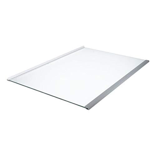 Whirlpool Bauknecht 481010667591 ORIGINAL Glasplatte Glasabdeckung Abstellplatte Einlageboden Absteller 485x343mm Leisten Kühlschrank Kühlautomat Kühlgerät auch Ikea Ignis Philips