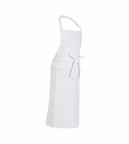 CaptainWorkwear Latzschürze – für Damen und Herren – Gastronomieschürze 80×100 cm in weiß
