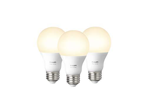 Foto Philips Lighting Hue White Lampadine LED, E27, 9 W, Bianco, 2 Pezzi [A+] +...