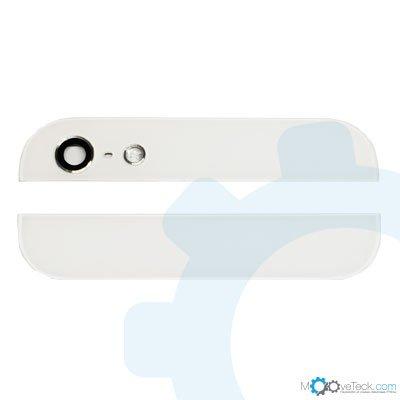 Vitres arrières haut et bas blanches pour iPhone 5S