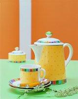 Villeroy & Boch 10-1360-0960 Twist Alea Limone Zucker-/Marmeladendose, 0,2 l, Premium Porzellan