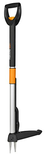 Fiskars SmartFit Weed Puller Telescopic, Length: 1 - 1.19 m, Stainless Steel Handle/Plastic Handle, Black/Orange, 1020125