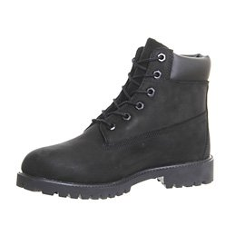 Timberland Juniors 6  Premium Waterproof Boot Black Nubuck - 5 5 UK
