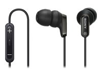 sony in ear headphones. sony mdrex38ipb.ce7 in-ear headphones with in-line ipod remote control in ear