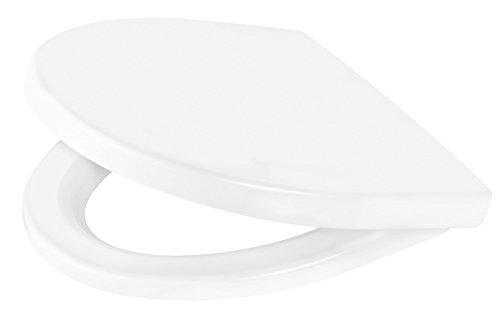 Cornat WC-Sitz MONTEGO, weiß / Toilettensitz / Toilettendeckel / Klodeckel / WC-Deckel / Absenkautomatik / Duroplast / KSMONSC00