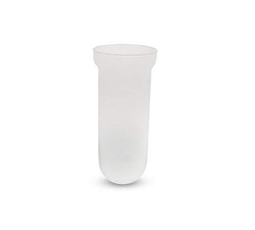 Bottiglioni linea bath ricambi scopino bagno - tazza vetro satinato scopino bagno - ricambi accessori bagno