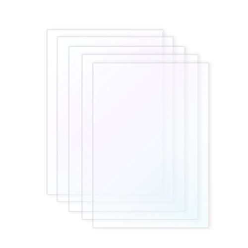 Wisamic 5 PCS SLA/LCD FEP Film - Compatible con la impresora 3D Photon Impresoras 3D de 0.15-0.2mm Filamentos, 140 * 200mm para Anycubic Photon, Ez3dx, X-5, X-6, etc.