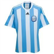 Adidas AFA Argentinien home Trikot WM 2010 P47066: M (Home Trikot Argentinien)