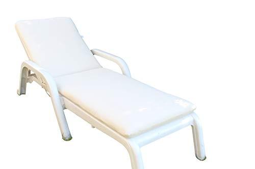 Ghiocuscini cuscino, per sdraio, per lettino prendisole, per esterni,da giardino mis.73+109 l57 h.6 cm colore ecru' cotone/polyestere
