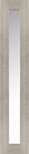 HobbitHoleCo Largo Accent para Colgar Decorativa en Forma de Espejo de Pared con Amplia Plata Marco, Paleta de Albañil por 54.5-Inch-Juego de 3