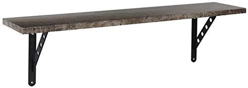 Rauch Möbel Sumatra Wandregal mit Lack, 100x 27x 21cm, schwarz