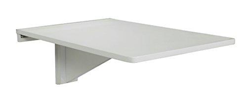 Orolay Table de Cuisine en Bois Pliante Table de Chevet Murale Blanc