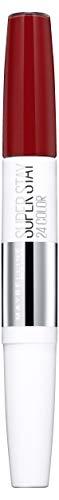 Maybelline Superstay 24H Lippenstift Nr. 542 Cherry Pie, farbintensiver, flüssiger Lippenstift mit bis zu 24 Stunden Halt, patentierte Micro-Flex-Formel, mit integriertem Pflegebalsam, 5 g -