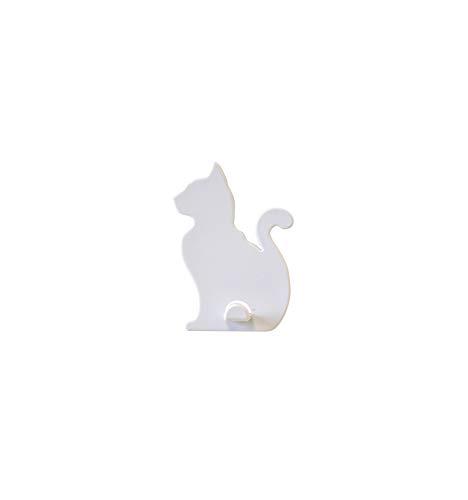 Preisvergleich Produktbild KalaMitica Katze-Design Magnetische Aufhänger,  ABS-Harz,  Weiß 7x5, 1 cm