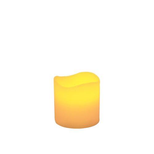 Skylantern Original 2462 - Vela tipo cirio LED (7 x 7,5 cm, borde ondulado)