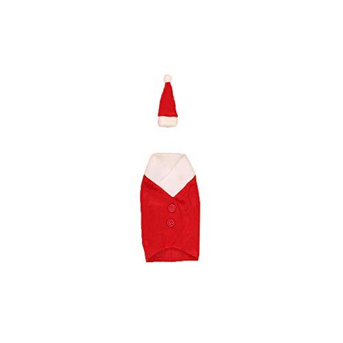 Mitlfuny Rotweinflasche Set Weihnachten Wein Flasche Anzug FlaschenhüLle -
