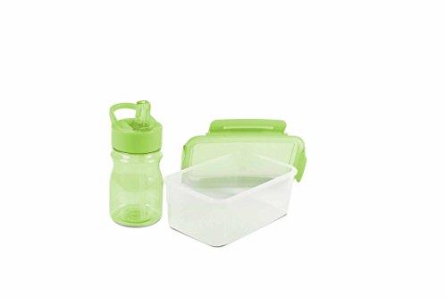 Durandal Tritan Trinkflasche 350ml & Frischhaltedose 1L -Box Set – grün – aus BPA-freiem Kunststoff – nahezu bruchsicher und wiederverwendbar