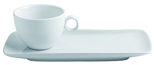 LOT DE 12 TASSES et SOUS TASSES THE BOULE PORCELAINE Ø90 x H60 mm. 20cl