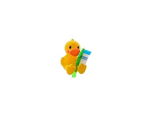 Zabrinay Haushaltsgegenstände Reizender Gelber Enten-Zahnbürsten-Halter-Stand für Badezimmer-Werkzeug