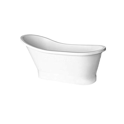 Freistehende Badewanne Wanne GLORIA 150x66 cm ohne Überlauf Mineral DuraBe