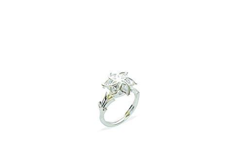 Herr der Ringe Schmuck by Schumann Design Galadriels Nenya Ring 925 Sterling Silber Rg 50 (Herr Der Ringe Steine)