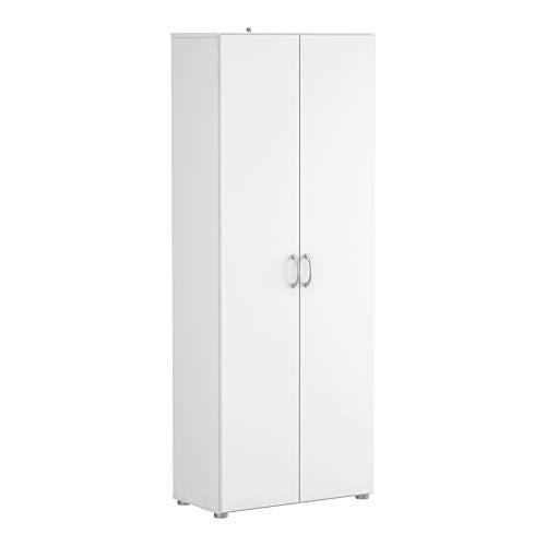 Demeyere 305541 Cobi Armoire Multifonctions avec 2 Portes/3 Rayons Panneau de Particules Blanc 68 x 34 x 175 cm