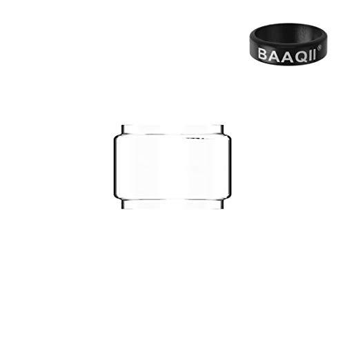 GeekVape Zeus Dual/Zeus X Replacement Glass Tube Pyrex 5.5ml Nicotine Free with Baaqii Vape Band