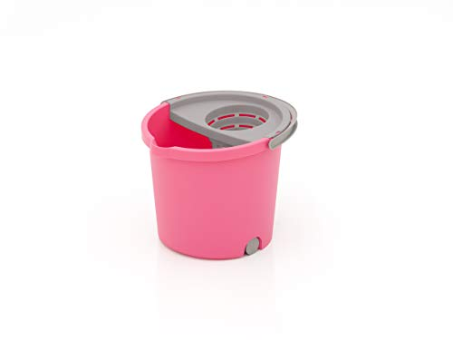 SMART-T-HAUS Cubo Redondo 3 Mini Ruedas + Escurridor