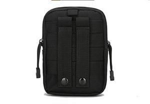 Zll/Military Enthusiasten, um zu Tactical Pocket-Tasche Outdoor Sport Pocket Change Kleidung Gürtel Handytasche Tasche Schwarz