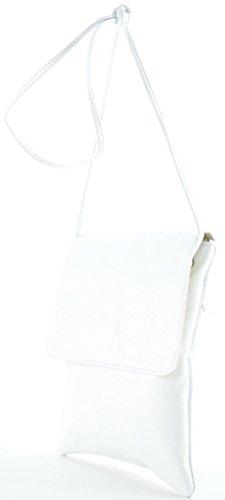 histoireDaccessoires - Pochette Pelle Donna - PO155734-GE-Capucine Bianco
