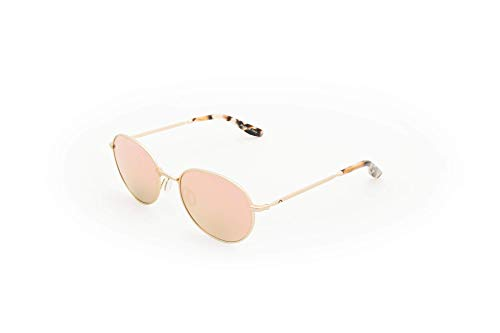 Adamant sunglasses. Metal frame. Polarized lenses, anti-scratch, anti-glare, with UV filter. Made in Italy (Mirror Rose gold)