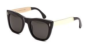 Occhiali da sole RETROSUPERFUTURE Gals Francis Black Gold 5WN/R