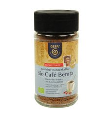 GEPA Premium Bio Café Benita ENTCOFFEINIERT - Instant Kaffee - 1 Karton (6 x 100g) Fair Trade...