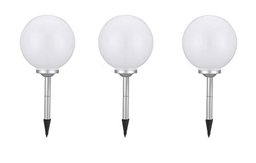 Bestseller 3 x LED Solar-Kugelleuchte Marla Solar-Kugellampe mit Erdspieß, Durchmesser 20cm, Dekoleuchte für Garten, Balkon Kugelleuchte
