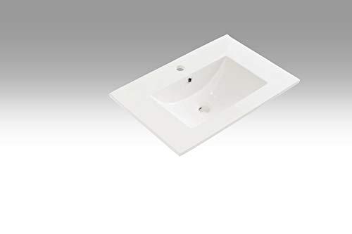 tft Lavabo Rettangolare da Incasso in Ceramica 71x46,5x2cm Bianco