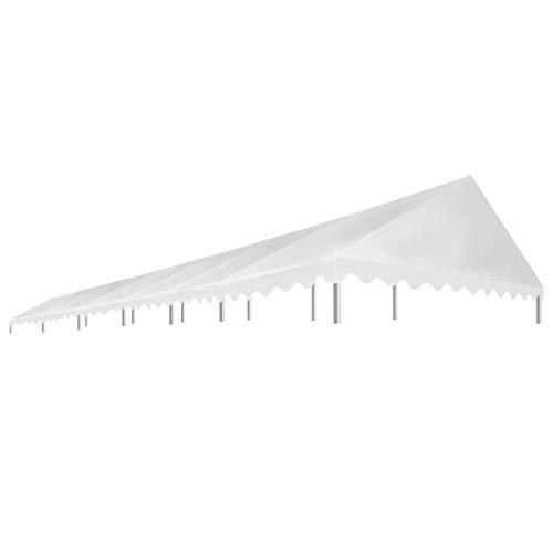 ghuanton tetto per tendostruttura 6x12 m bianco 450 g/m² casa e giardino prato e giardino vita all'aperto strutture da esterno accessori per baldacchini e gazebo tetti per baldacchini e gazebo