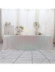 3e Home Pailletten Tischdecke für Hochzeit Party Kuchen Tisch Rectangle-60x120 Schillernd