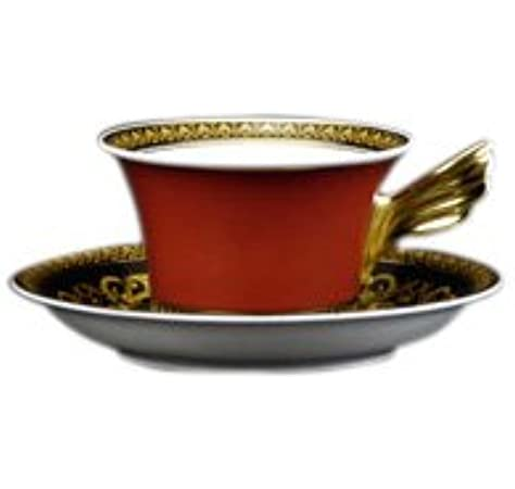 Versace by Rosenthal Medusa Red Cup & Saucer Low: Amazon.co